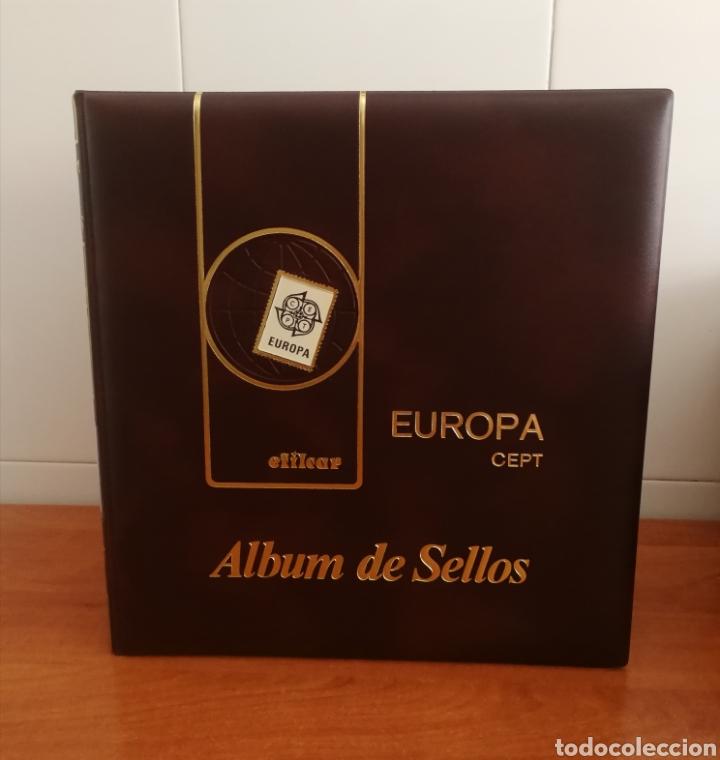 ÁLBUM EFILCAR TEMA EUROPA CEPT AÑO 1991/94 (FOTOGRAFÍA REAL) (Sellos - Material Filatélico - Hojas)