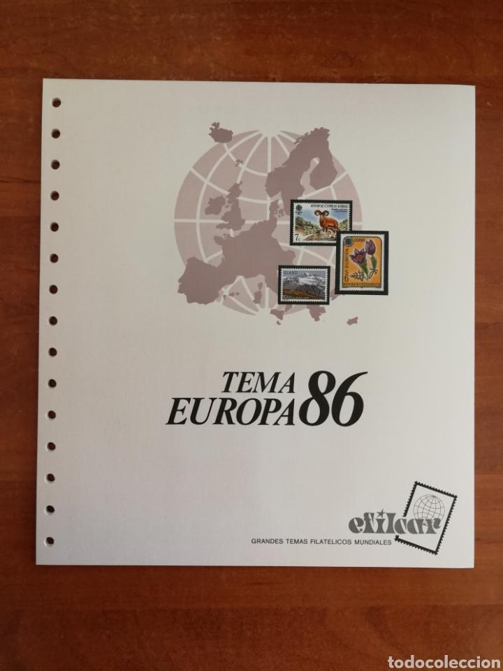 Sellos: ÁLBUM EFILCAR PARA SELLOS DE EUROPA CEPT 1986/90 (FOTOGRAFÍA REAL) - Foto 3 - 212525505