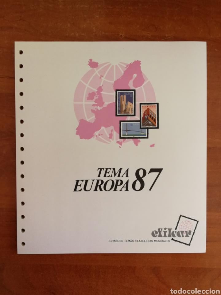 Sellos: ÁLBUM EFILCAR PARA SELLOS DE EUROPA CEPT 1986/90 (FOTOGRAFÍA REAL) - Foto 4 - 212525505