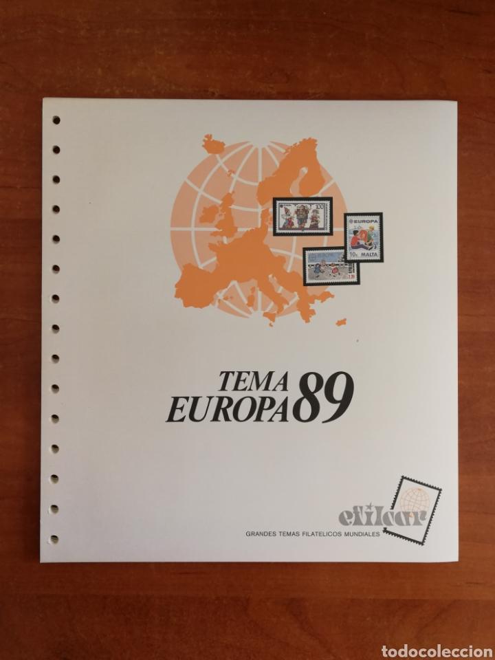 Sellos: ÁLBUM EFILCAR PARA SELLOS DE EUROPA CEPT 1986/90 (FOTOGRAFÍA REAL) - Foto 6 - 212525505