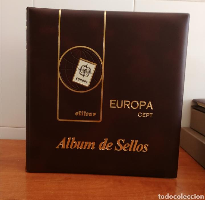 ÁLBUM EFILCAR PARA SELLOS DE EUROPA CEPT 1986/90 (FOTOGRAFÍA REAL) (Sellos - Material Filatélico - Hojas)
