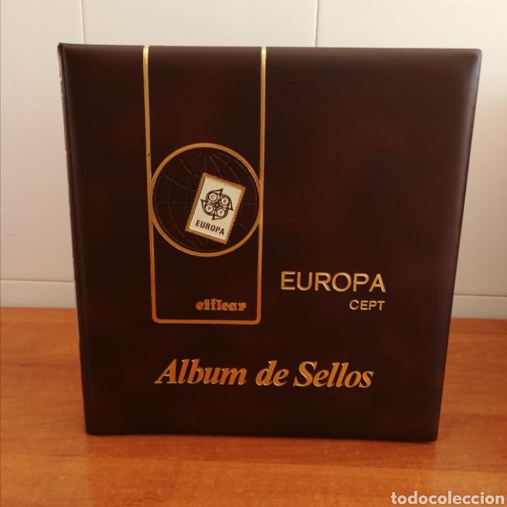 ÁLBUM EFILCAR TEMA EUROPA CEPT 1973,74,75,76,83,84,85 (FOTOGRAFÍA REAL) (Sellos - Material Filatélico - Hojas)
