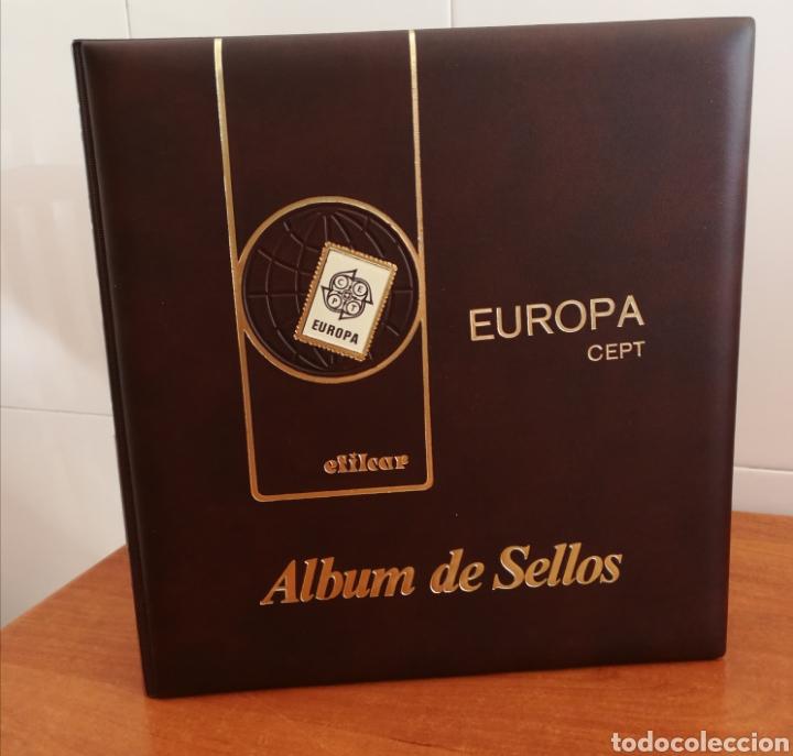 ÁLBUM EFILCAR TEMA EUROPA CEPT AÑOS 1956/71 EXCEPTO 1961 (FOTOGRAFÍA REAL) (Sellos - Material Filatélico - Hojas)