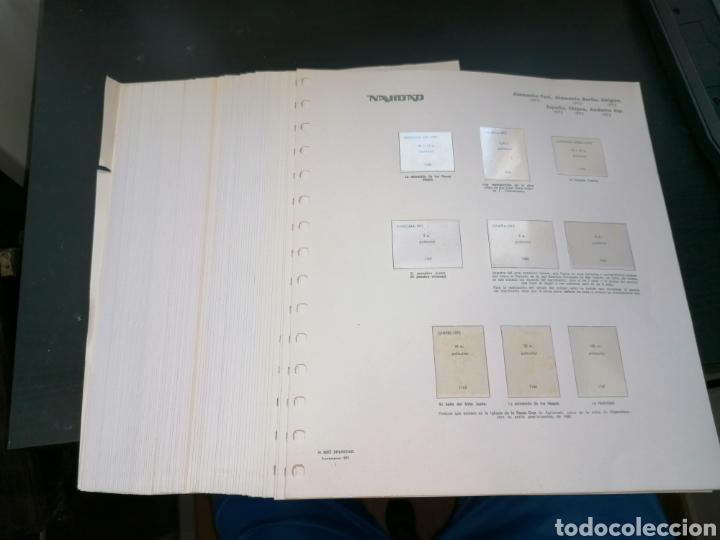 RESTO COLECCIÓN HOJAS ÁLBUM NAVIDAD 1972 1973 (Sellos - Material Filatélico - Hojas)