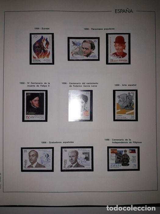 Sellos: Hojas Edifil España año 1998 Suplemento Edifil 1998 filoestuches negros SELOS NO INCLUIDOS HE90 - Foto 3 - 215675297