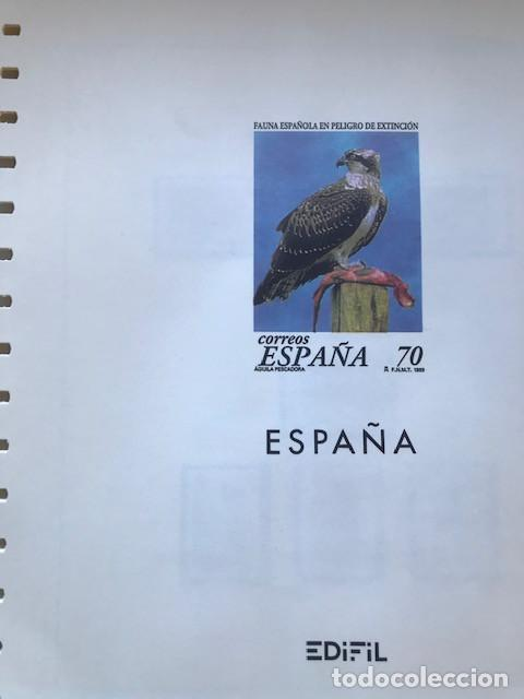 HOJAS EDIFIL ESPAÑA AÑO 1999 SUPLEMENTO EDIFIL 1999 FILOESTUCHES NEGROS SELOS NO INCLUIDOS HE90 99 (Sellos - Material Filatélico - Hojas)
