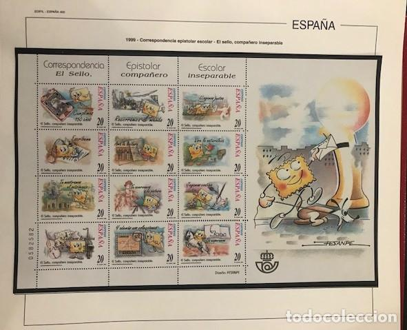 Sellos: Hojas Edifil España año 1999 Suplemento Edifil 1999 filoestuches negros SELOS NO INCLUIDOS HE90 99 - Foto 3 - 215675577