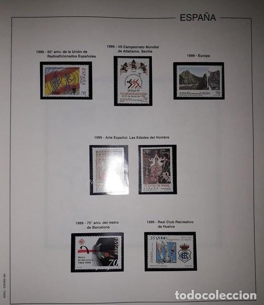 Sellos: Hojas Edifil España año 1999 Suplemento Edifil 1999 filoestuches negros SELOS NO INCLUIDOS HE90 99 - Foto 7 - 215675577