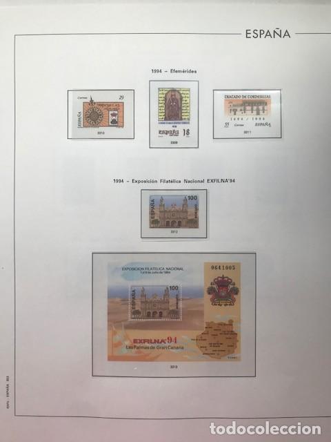 HOJAS EDIFIL ESPAÑA AÑO 1994 EN TRANSPARENTES HE90 SUPLEMENTO EDIFIL AÑO 1994 (Sellos - Material Filatélico - Hojas)