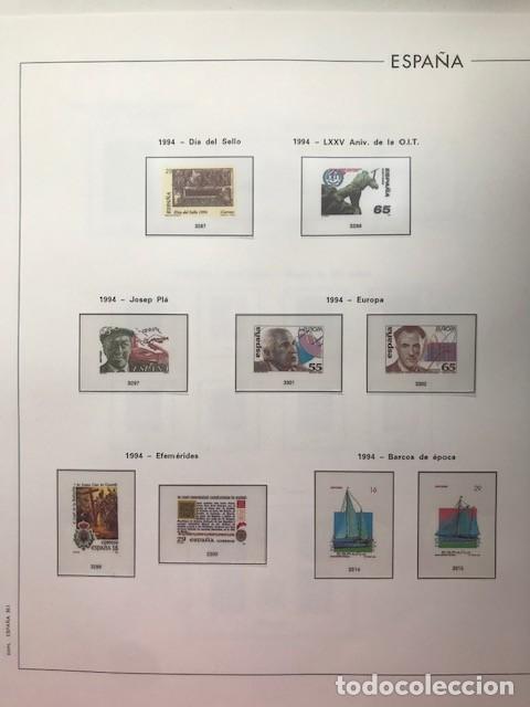 Sellos: Hojas Edifil España año 1994 en transparentes HE90 Suplemento Edifil año 1994 - Foto 4 - 215721608
