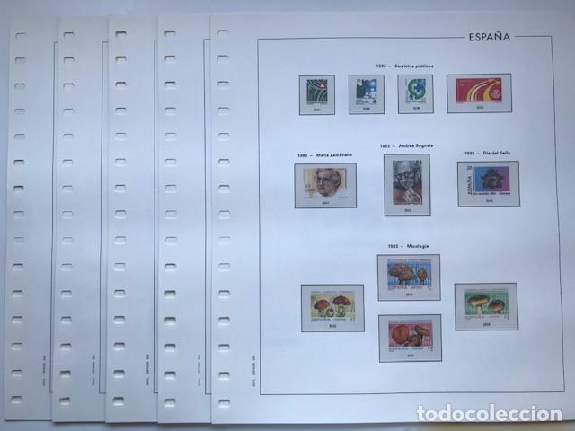 HOJAS EDIFIL AÑO 1993 EN COLOR Y TRANSPARENTE SUPLEMENTO HOJAS EDIFIL ESPAÑA 1993 HE90 (Sellos - Material Filatélico - Hojas)