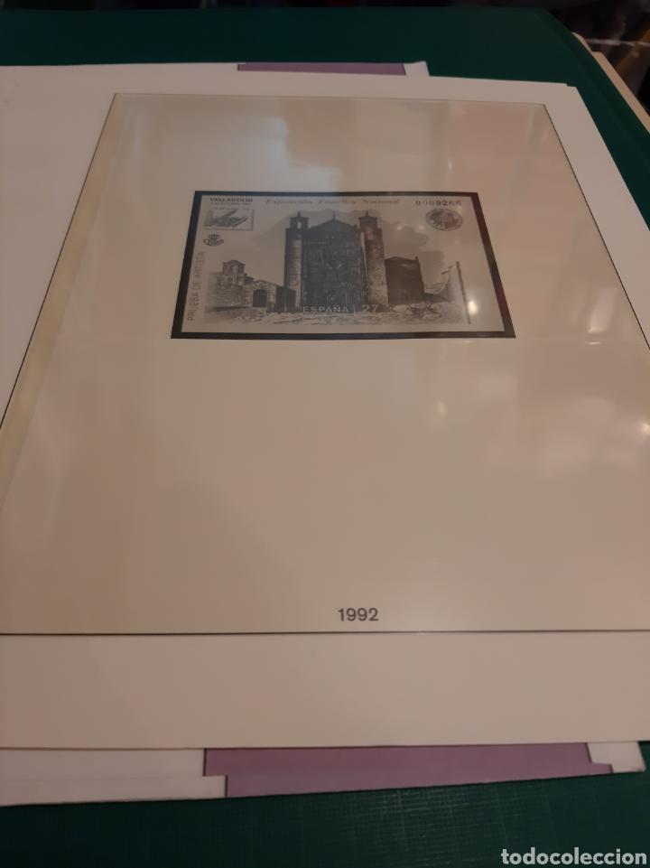 Sellos: España hojas Lindner PRUEBAS 1992 - Foto 2 - 217934983