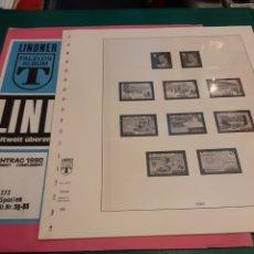 Sellos: 1980 ESPAÑA HOJAS LINDNER AÑO NÚMERO 55/58 FILATELIA COLISEVM. Lote 218021981