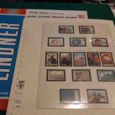 Sellos: 2001 ESPAÑA HOJAS LINDNER PARA SELLOS Y HOJAS BLOQUE FILATELIA COLISEVM HOJAS 188 /196. Lote 218023217