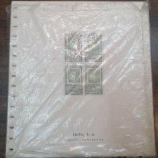 Selos: ESPAÑA HOJAS DE ÁLBUM EDIFIL AÑOS 1965 AL 1969 BLOQUE DE CUATRO CARTULINA CREMA SIN MONTAR (NUEVAS). Lote 218198345