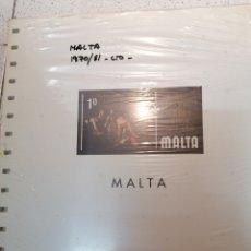 Sellos: MALTA HOJAS DE ÁLBUM EDIFIL SUPLEMENTO AÑOS 1970-1981 SIN MONTAR (NUEVAS). Lote 218521682
