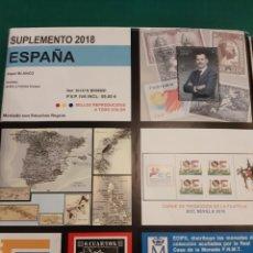 Sellos: EDIFIL 2018 SUPLEMENTO ESPAÑA SELLOS Y HOJAS BLOQUE MONTADO NEGRO O TRASPARENTES. Lote 218521976