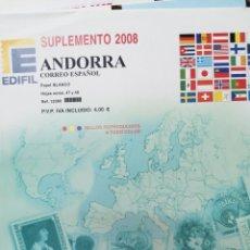 Sellos: ANDORRA ESPAÑOLA HOJAS DE ÁLBUM EDIFIL SUPLEMENTO AÑO 2008 SIN MONTAR (NUEVAS). Lote 218524711