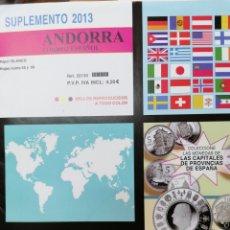 Sellos: ANDORRA ESPAÑOLA HOJAS DE ÁLBUM EDIFIL SUPLEMENTO AÑO 2013 SIN MONTAR (NUEVAS). Lote 218524915