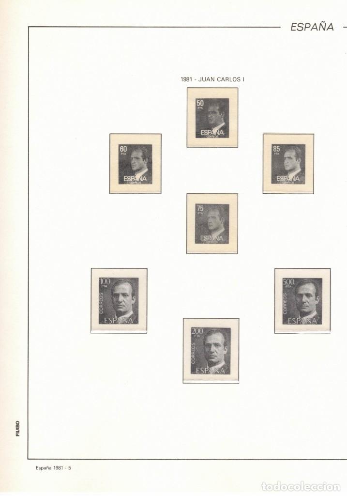 1981 HOJA Nª 5 FILABO JUAN CARLOS I. ESTUCHADO TRANSPARENTE (Sellos - Material Filatélico - Hojas)