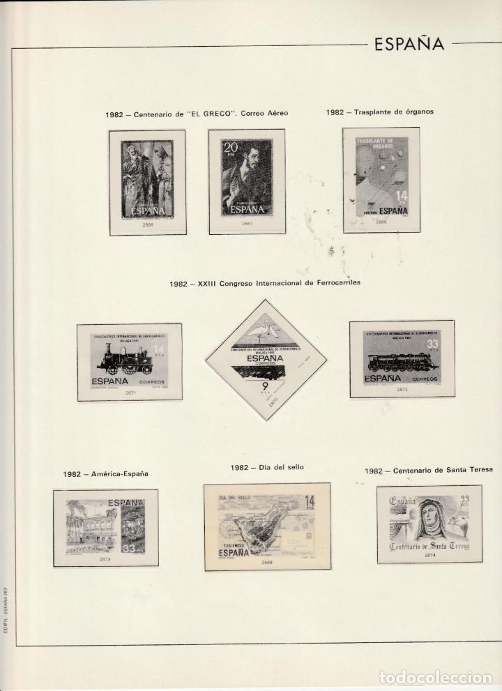 1982 ESPAÑA HOJA 263 EDIFIL. ESTUCHADO TRANSPARENTE (Sellos - Material Filatélico - Hojas)