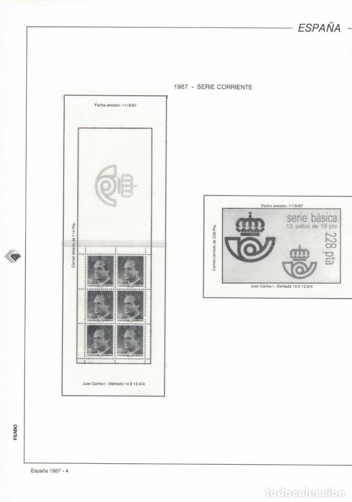 1987 HOJA 4 FILABO ESTUCHADO TRANSPARENTE. (Sellos - Material Filatélico - Hojas)
