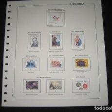 Sellos: SIETE SUPLEMENTOS DE SELLOS DE ANDORRA ESPAÑOLA 2011 SIN ESTUCHES DE FILABO. Lote 219252725