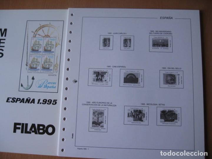 SUPLEMENTO DE SELLOS DE EPAÑA 1995 SIN ESTUCHE FILABO (Sellos - Material Filatélico - Hojas)