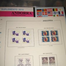Sellos: SUPLEMENTO DE ANDORRA ESPAÑOLA 2011 EDIFIL EN BLOQUE DE CUATRO. Lote 219459657