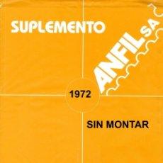 Selos: SUPLEMENTO MANFIL 1972 SIN MONTAR SEGUNDA MANO,. Lote 219898810