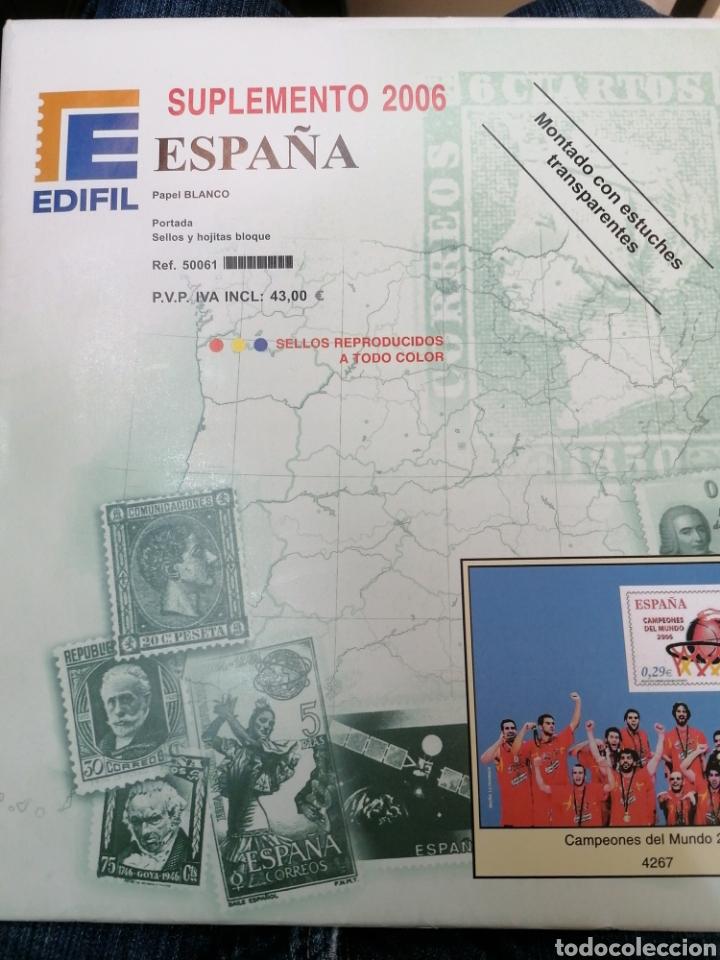 ESPAÑA HOJAS DE ÁLBUM EDIFIL SUPLEMENTO AÑO 2006 MONTADO EN BLANCO (NUEVO) (Sellos - Material Filatélico - Hojas)
