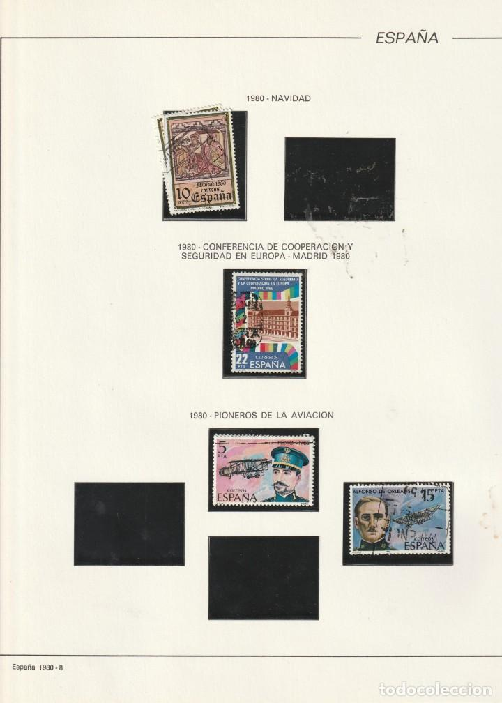 1980 HOJA 8 FILABO ESPAÑA ESTUCHADO NEGRO (Sellos - Material Filatélico - Hojas)