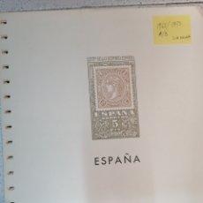 Sellos: ESPAÑA HOJAS DE ÁLBUM EDIFIL CARTULINA 1965 AL 1973 (SIN ESCUDOS) MONTADAS EN BLANCO (SEGUNDA MANO). Lote 220640392