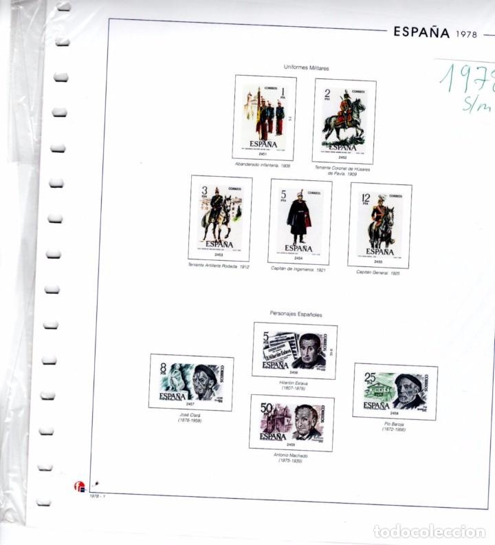 SUPLEMENTO UNIFIL 1978 MONTADO EN BLANCO CON FILOESTUCHES PRINZ SEGUNDA MANO (Sellos - Material Filatélico - Hojas)
