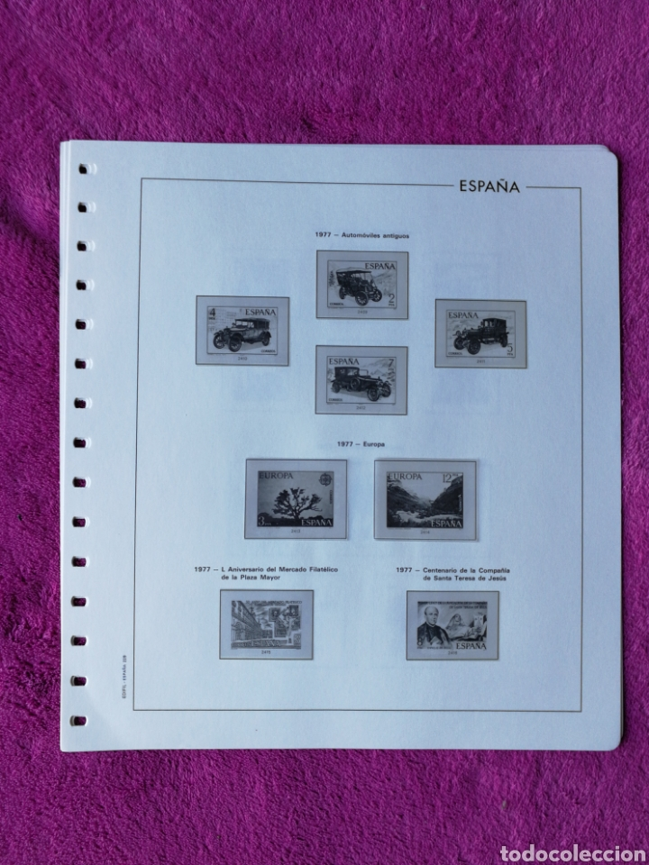 Sellos: HOJAS EDIFIL AÑO 1977 COMPLETO (FOTOGRAFÍAS REALES) - Foto 4 - 221114748