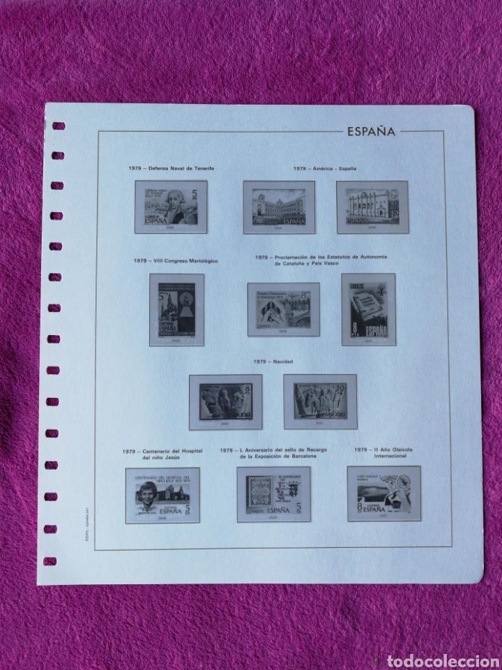 Sellos: HOJAS EDIFIL AÑO 1979 COMPLETO (FOTOGRAFÍAS REALES) - Foto 6 - 221115275