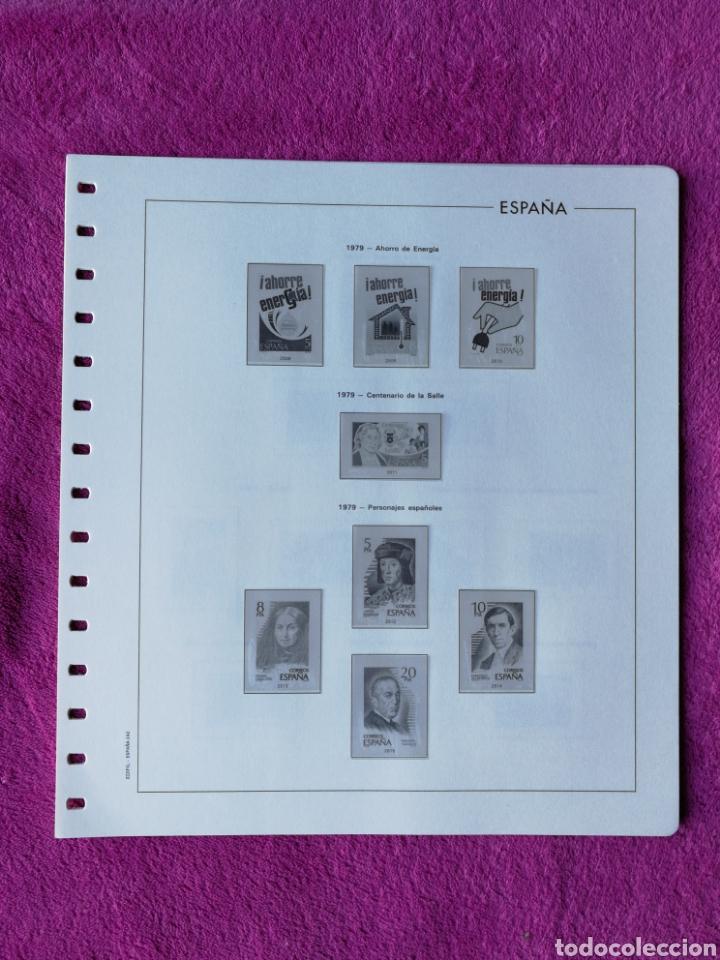 HOJAS EDIFIL AÑO 1979 COMPLETO (FOTOGRAFÍAS REALES) (Sellos - Material Filatélico - Hojas)