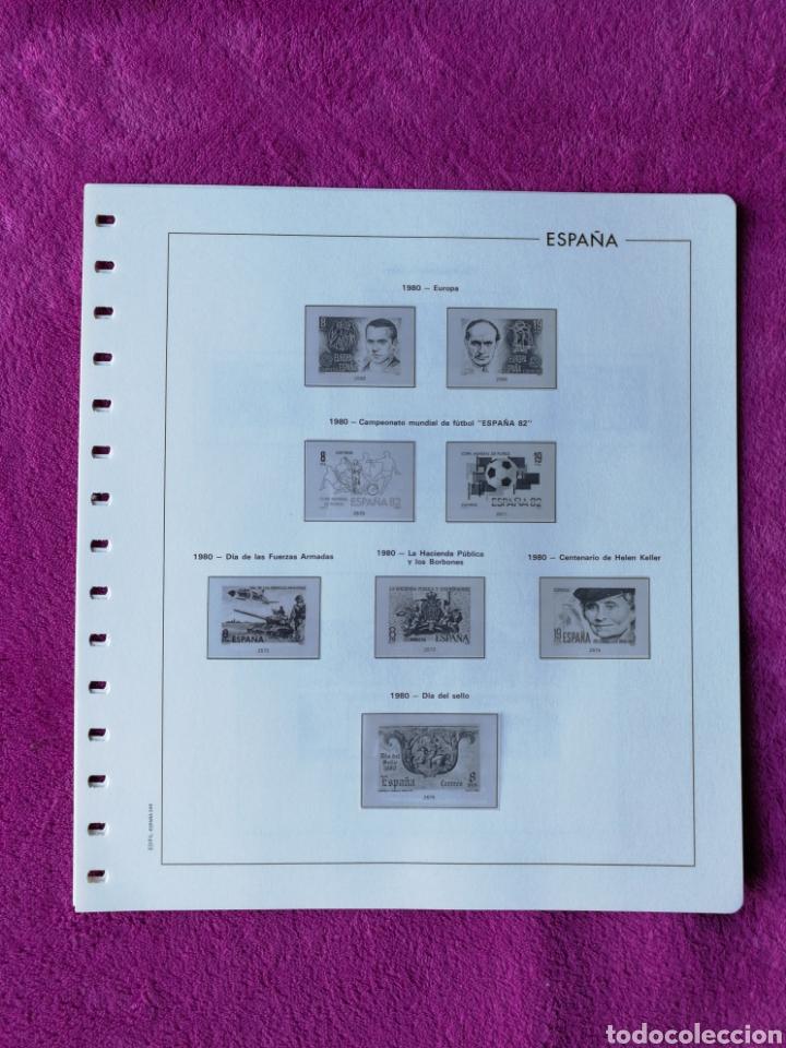 Sellos: HOJAS EDIFIL AÑO 1980 COMPLETO (FOTOGRAFÍAS REALES) - Foto 2 - 221115393