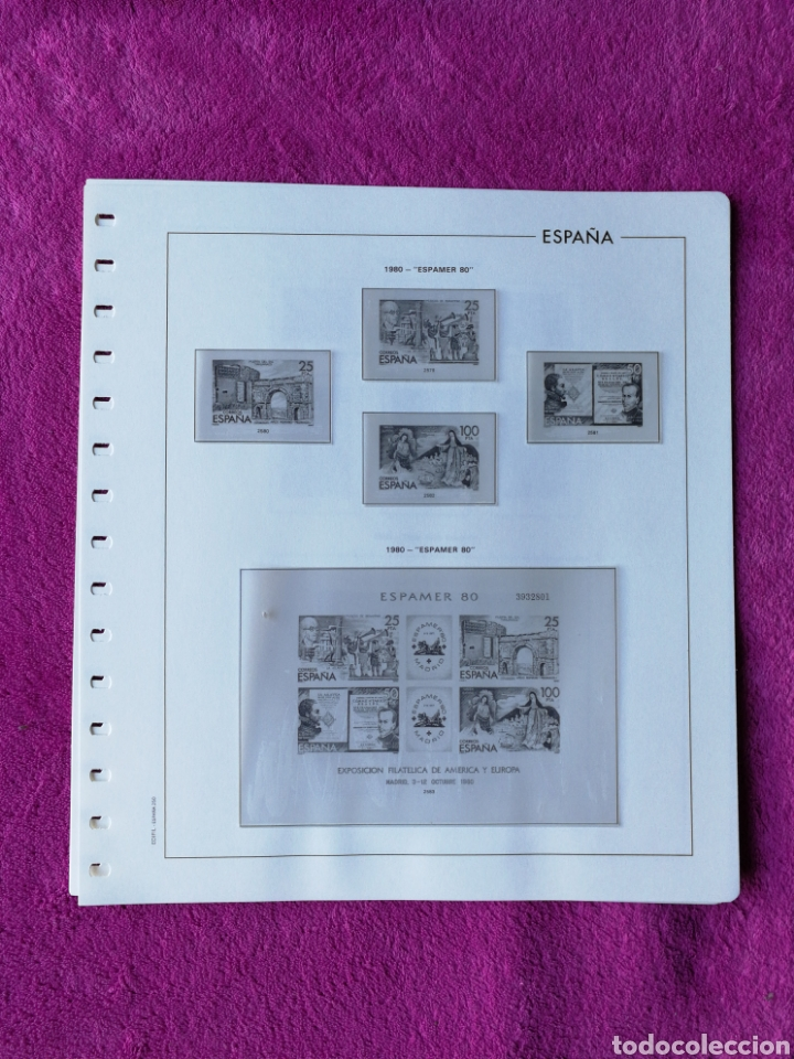 Sellos: HOJAS EDIFIL AÑO 1980 COMPLETO (FOTOGRAFÍAS REALES) - Foto 3 - 221115393