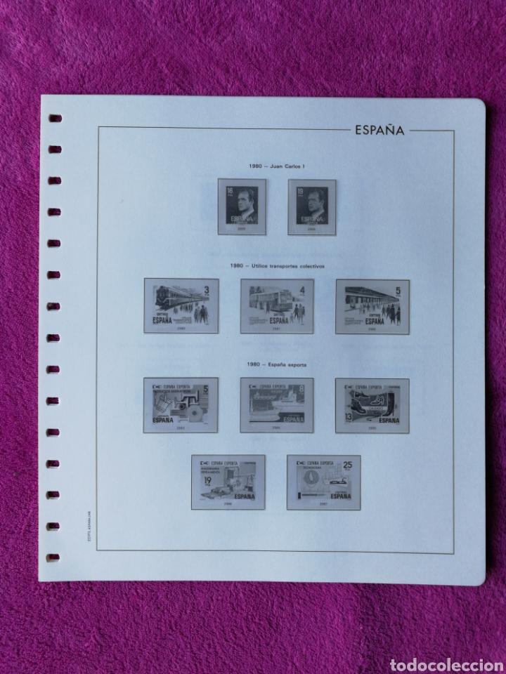 HOJAS EDIFIL AÑO 1980 COMPLETO (FOTOGRAFÍAS REALES) (Sellos - Material Filatélico - Hojas)