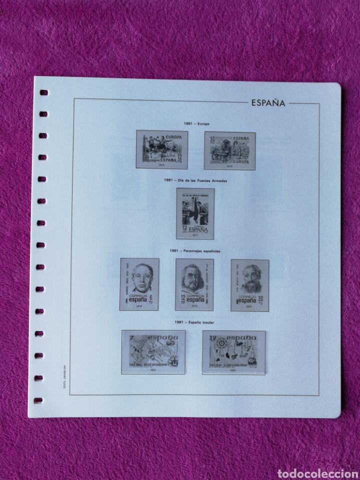 Sellos: HOJAS EDIFIL AÑO 1981 COMPLETO (FOTOGRAFÍAS REALES) - Foto 3 - 221116030