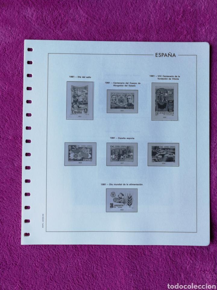 Sellos: HOJAS EDIFIL AÑO 1981 COMPLETO (FOTOGRAFÍAS REALES) - Foto 4 - 221116030