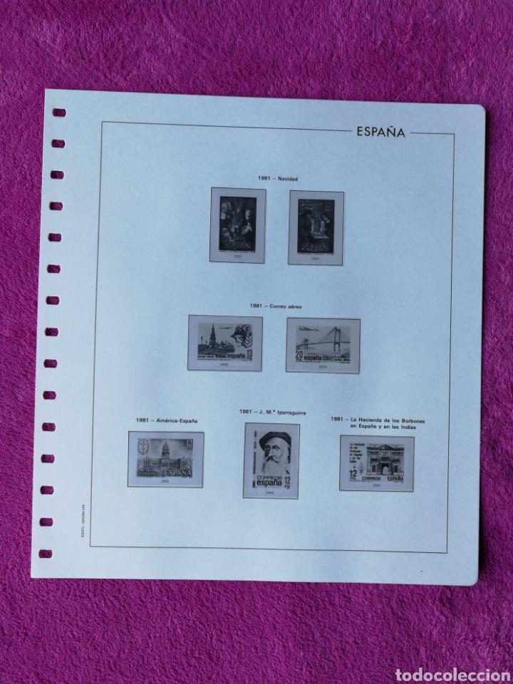 Sellos: HOJAS EDIFIL AÑO 1981 COMPLETO (FOTOGRAFÍAS REALES) - Foto 7 - 221116030