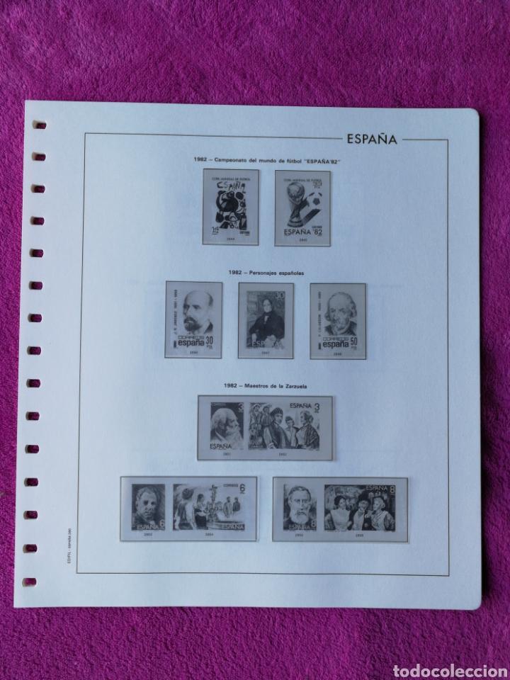 HOJAS EDIFIL AÑO 1982 COMPLETO (FOTOGRAFÍAS REALES) (Sellos - Material Filatélico - Hojas)