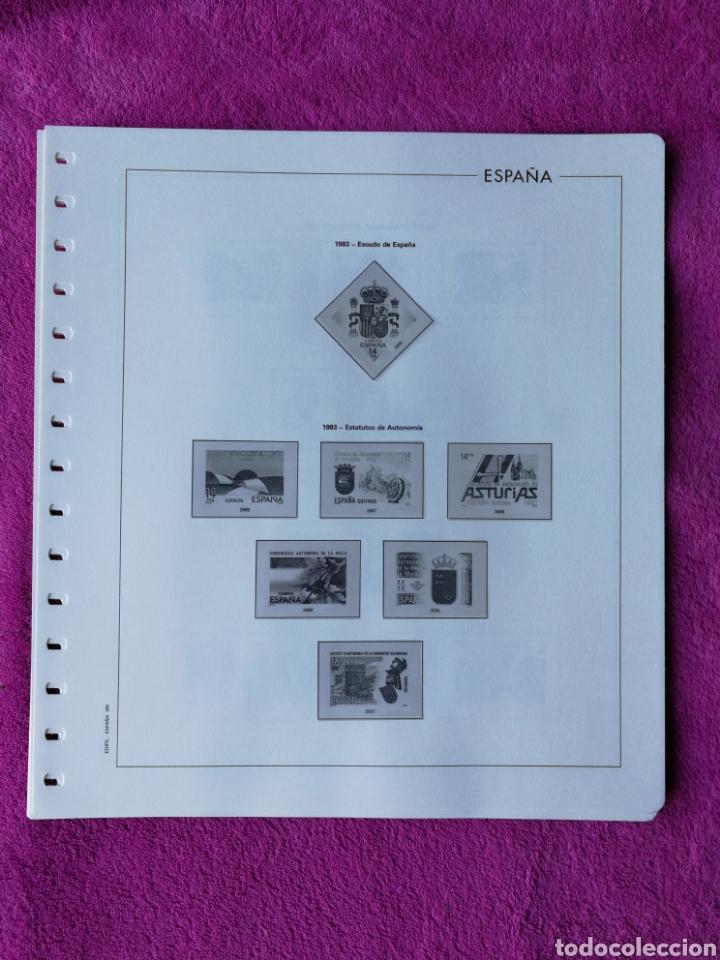 HOJAS EDIFIL AÑO 1983 COMPLETO (FOTOGRAFÍAS REALES) (Sellos - Material Filatélico - Hojas)