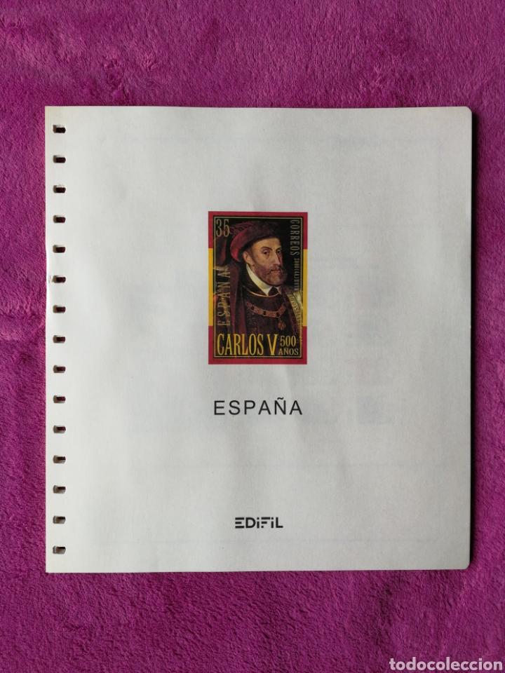 HOJAS EDIFIL AÑO 2000 COMPLETO (FOTOGRAFÍAS REALES) (Sellos - Material Filatélico - Hojas)