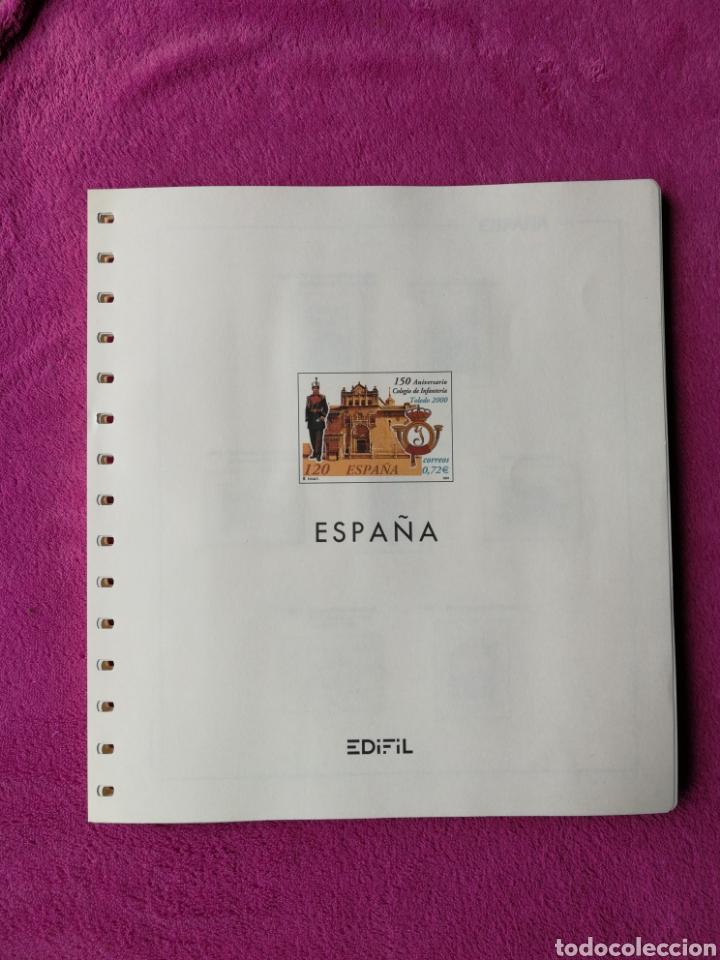 HOJAS EDIFIL AÑO 2001 COMPLETO (FOTOGRAFÍAS REALES) (Sellos - Material Filatélico - Hojas)