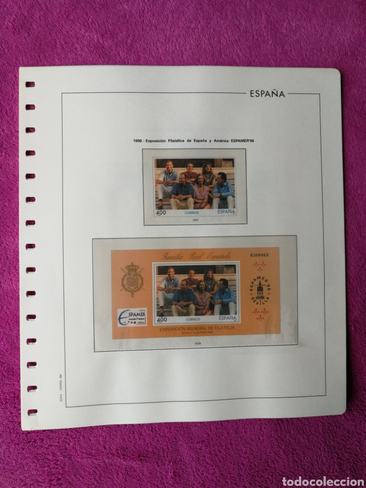 Sellos: HOJAS EDIFIL AÑO 1996 COMPLETO (FOTOGRAFÍAS REALES) - Foto 4 - 221120593