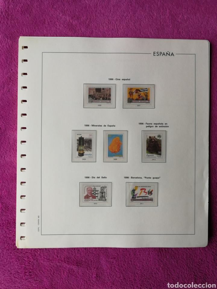 HOJAS EDIFIL AÑO 1996 COMPLETO (FOTOGRAFÍAS REALES) (Sellos - Material Filatélico - Hojas)