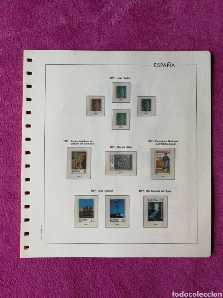 HOJAS EDIFIL AÑO 1997 COMPLETO (FOTOGRAFÍAS REALES) (Sellos - Material Filatélico - Hojas)